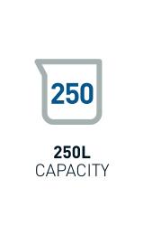 250L Capacity