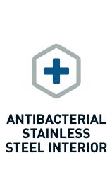 AntiBacterial Stainless Steel Interior