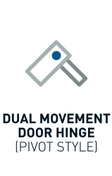 Dual Movement Door Hinge (Pivot Style)